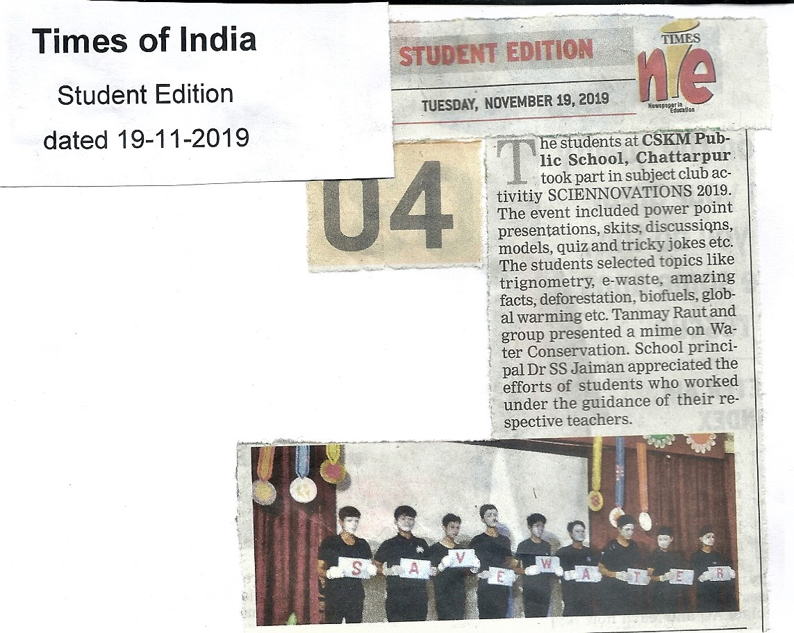 Times of India - Nov 19, 2019